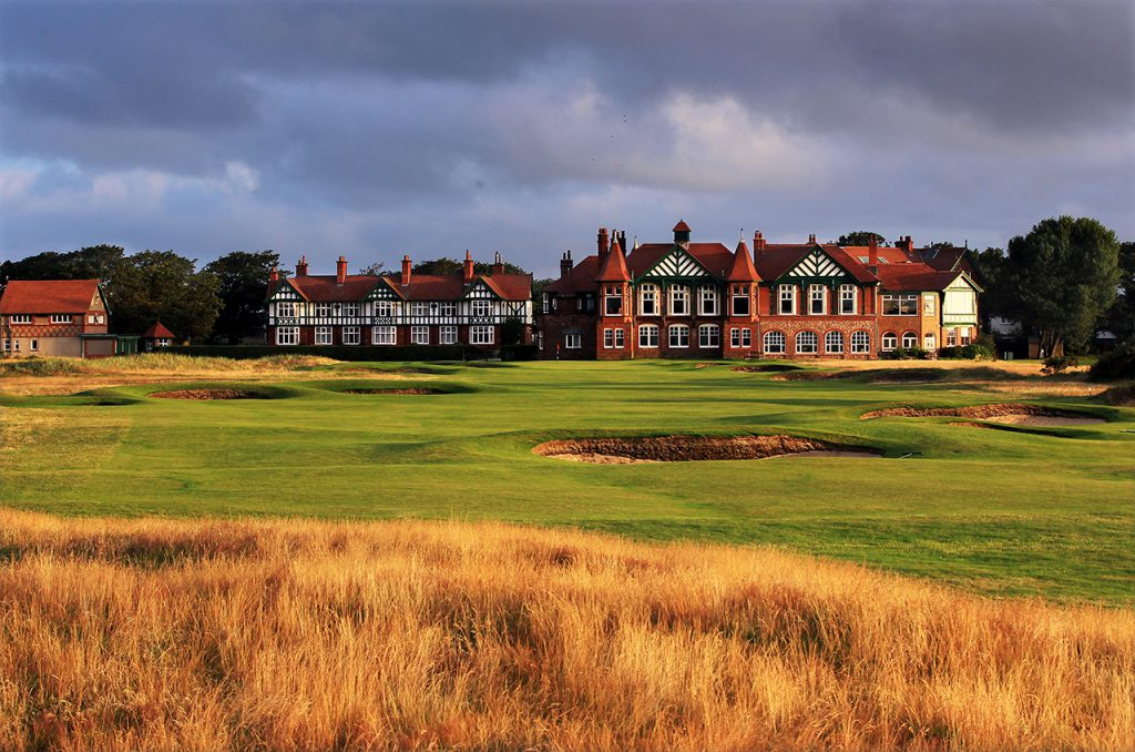 LYTHAM ST ANNES, ENGLAND - JULY 25:  The 410 yards par 4, 18th hole at Royal Lytham and St Annes Golf Club the venue for the 2012 Open Championship on July 25, 2011 in Lytham St Annes, Lancashire, England.  (Photo by David Cannon/Getty Images)